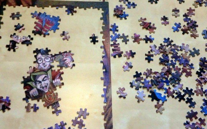 How do you flatten a puzzle mat